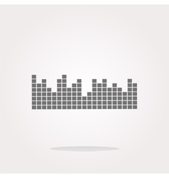 sound round web glossy icon vector image