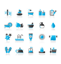 spa beauty and body care icons vector image vector image