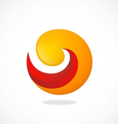 swirl round 2D abstract logo vector image