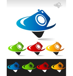 Swoosh camera logo icon vector