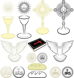 Symbols of christianity vector