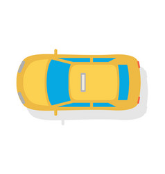 taxi car top view flat style icon vector image vector image
