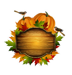 Thanksgiving autumn composition vector
