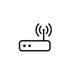 thin line wi-fi router icon vector image vector image