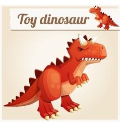 Toy dinosaur 3 Cartoon vector image vector image