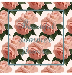 Vintage Watercolor Roses flowers Card vector image vector image