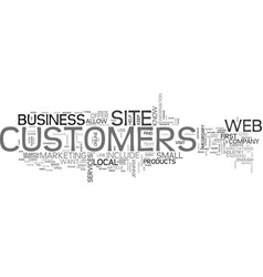 what customers expect from your web site text vector image vector image