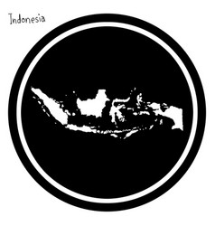 white map of indonesia on black vector image