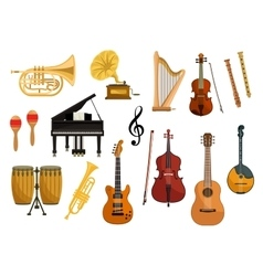 Icons of musical instruments vector