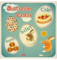Easter australian card vector