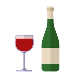 Alcohol drink wine bottle vector