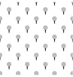 Golf ball on a tee pattern vector