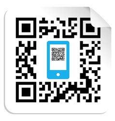 Qr code mobile label vector