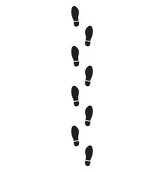 Man footsteps isolated on white background vector
