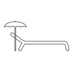 Beach chair the black color icon vector