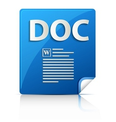 Embossed doc file type icon vector