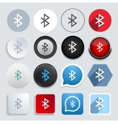 Modern bluetooth icons set vector