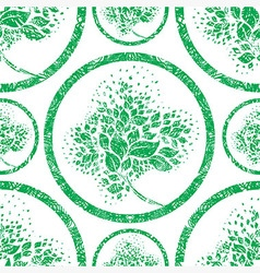 Seamless tree pattern 07 grunge vector