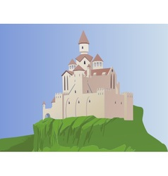 Castle on a rock vector