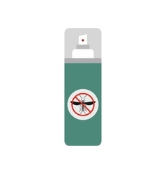 Mosquito spray flat icon vector