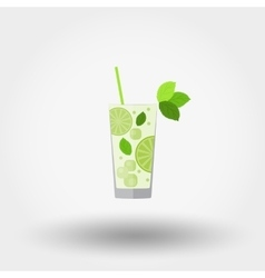 Mojito cocktail icon vector