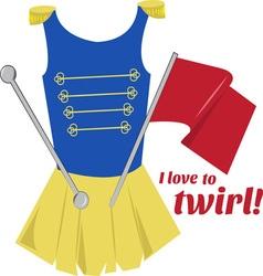 Love to Twirl vector image