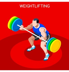 Weightlifting 2016 summer games 3d isometric vector