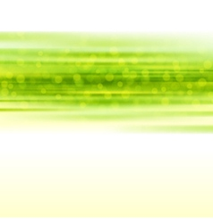 Green smooth light lines with lens effect vector image
