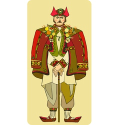 Man national costume vector