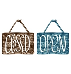 Open and closed sign vector
