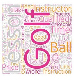 Are golf lessons worth the price text background vector
