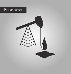 black and white style icon oil well vector image vector image