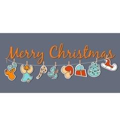 Christmas banner cozy christmas poster set vector