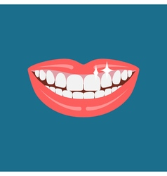 Dentist smile icon vector image
