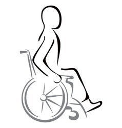Disabled in a wheelchair vector