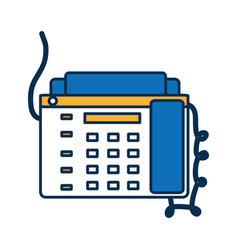 fax machine icon vector image