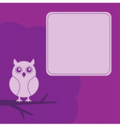frame with night owl vector image vector image