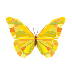 geometric mosaic butterfly vector image