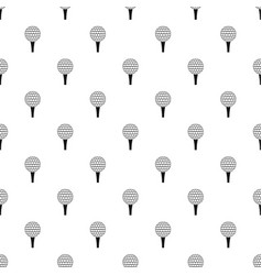 Golf ball on a tee pattern vector