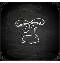 Hand drawn bell vector