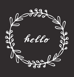 hello hand drawn lettering vector image