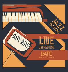 jazz festival design vector image vector image