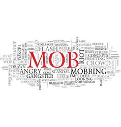 Mob word cloud concept vector