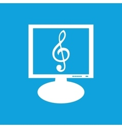 Music monitor icon vector