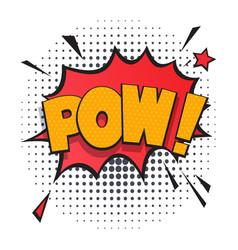 pow comic speech bubble in pop art style vector image