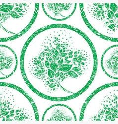 seamless tree pattern 07 grunge vector image vector image
