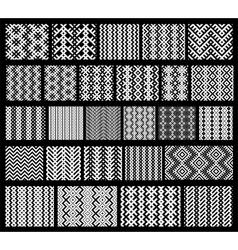 Set of 26 monochrome elegant seamless patterns vector image vector image