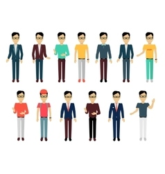 Set of man characters template vector
