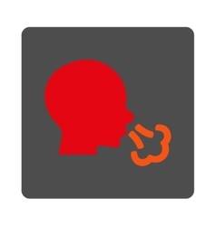 Sneezing Rounded Square Button vector image vector image