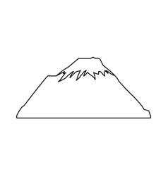snowy peak mountain travel tourism vector image vector image
